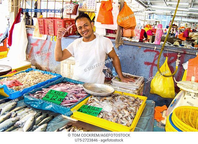 Fish stall scene, Public market, Chow Kit, Kuala Lumpur, Malaysia