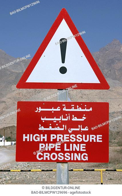 Sultanate Oman warning oilpipeline