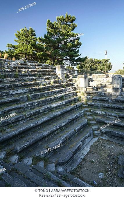 Priene Bouleuterion. Ancient Greece. Asia Minor. Turkey