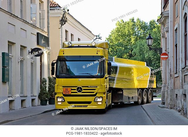 Yellow And Black Fuel Truck