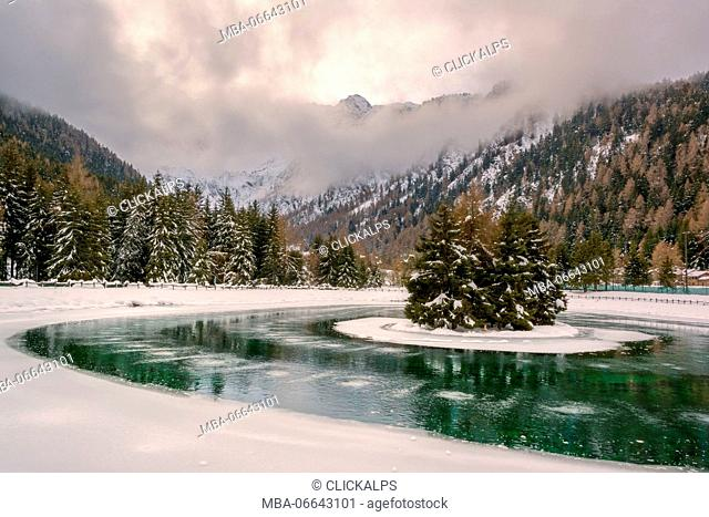 Valbione lake, Ponte di Legno, Lombardy district, Brescia province, Italy, Europe