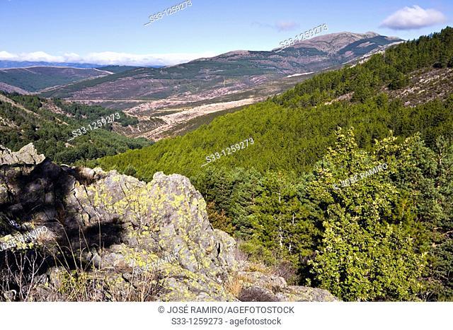 Peña La Cabra in the Sierra Norte Puebla de la Sierra Madrid Spain