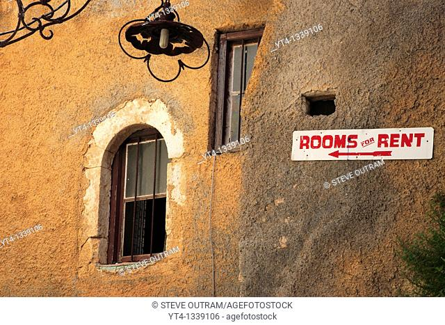 Greece  Crete  Rooms For Rent Sign  Chania Old Town