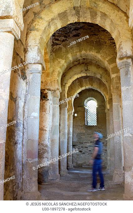Inside of Santa Lucía del Trampal church VII century is one of the most outstanding visigothic chapel of Spain  Declarated BIC Cultural Interest Goods Alcuéscar