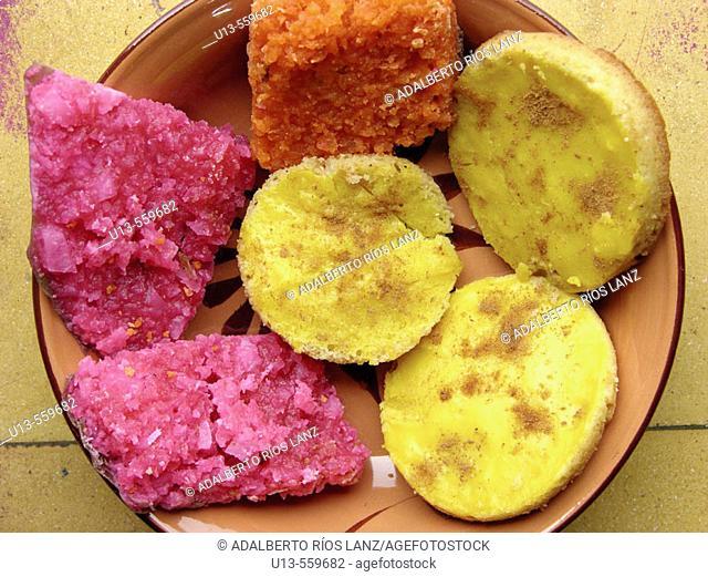 Campeche typical sweets for Dia de los Muertos. Mexico