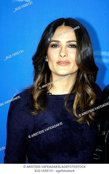 Actress SALMA HAYEK poses for photographers at the photocall for the film 'As Luck Would Have It' during the 62nd Berlin International Film Festival Berlinale