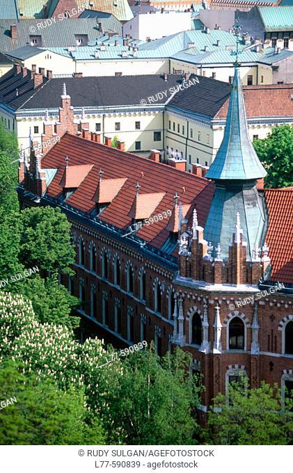 Old city from Wawel castle. Krakow. Poland