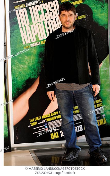 libero de rienzo; de rienzo; actor; celebrities; 2015;rome; italy;event; photocall; ho ucciso napoleone