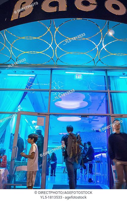 New York City, NY, USA, Front of Trendy Bar, 'Baco' in DUMBO Area, Brooklyn