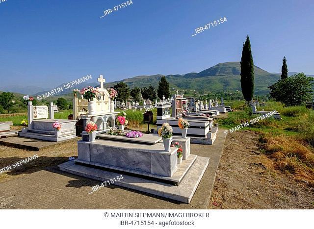 Cemetery, Mesopotam, near Saranda, Qark Vlora, Albania