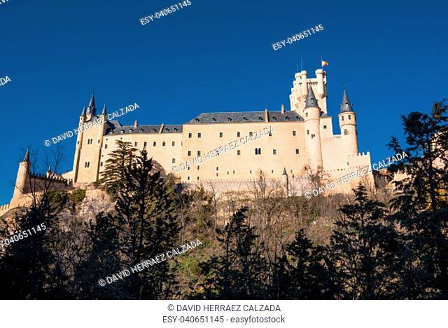 Famous Alcazar castle in Segovia, Castilla y Leon, Spain