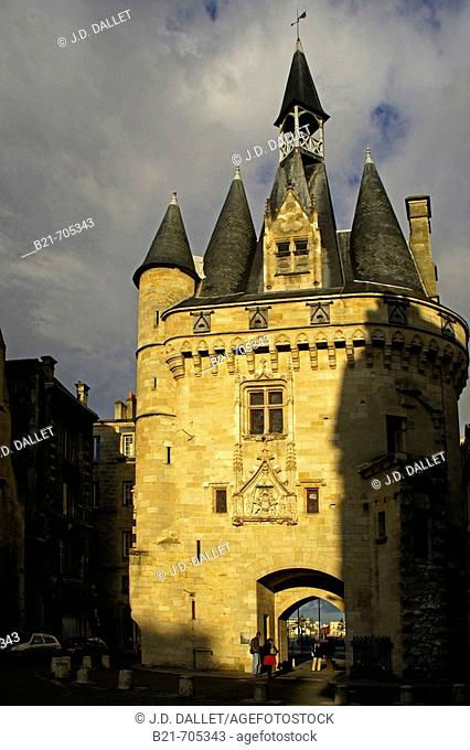 'Porte de Cailhau', former door in the walls of the old  Bordeaux. Gironde. France