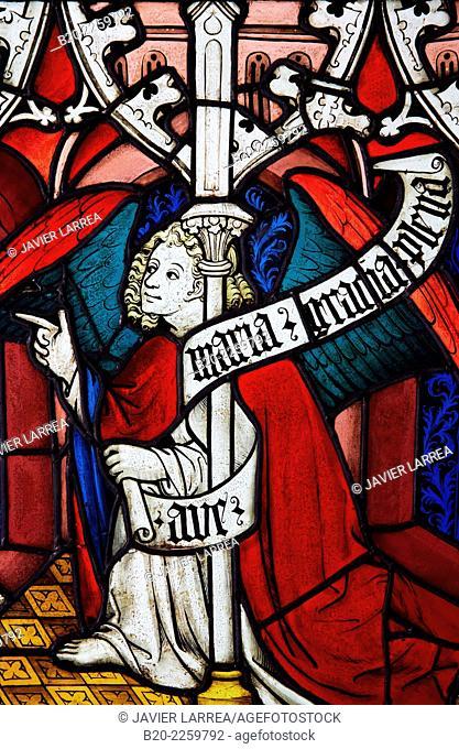 Vitraux de la Sainte-Chapelle de Paris. Musee du Moyen-Age Middle Ages Museum, the former Hotel de Cluny. Musée de Cluny. Paris. France