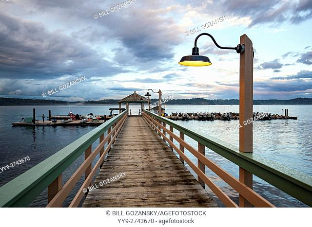 Dock at Painter's Lodge, Campbell River, Vancouver Island, British Columbia, Canada