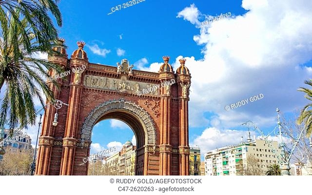 Barcelona, Spain, The Arc de Triomf was built as the main access gate for the 1888 Barcelona World Fair by architect Josep Vilaseca i Casanovas