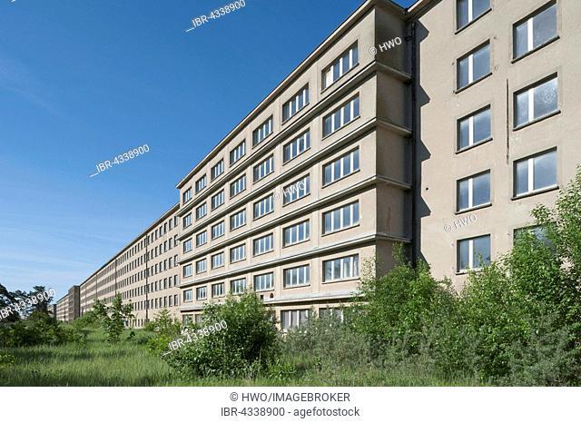 Gigantic housing block in Prora, former seaside resort Rügen of the Kraft durch Freude or KdF organization, unfinished major project under National Socialism