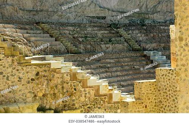 ancient Roman amphitheater in Cartagena, Spain