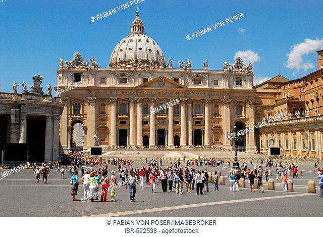 Saint Peter's Square with St. Peter's Basilica, Rome, Italy