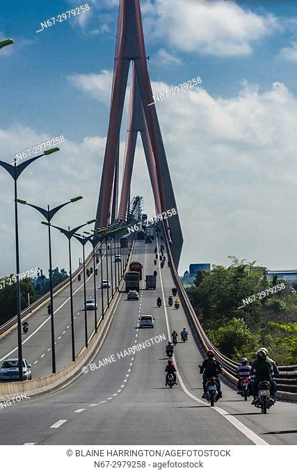 Can Tho Bridge, is a cable-stayed bridge over the Hau River, the largest distributary of the Mekong River, in the city of Can Tho in southern Vietnam