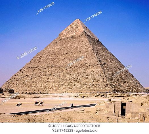 Pyramid of Chephren, Giza, Cairo, Egypt
