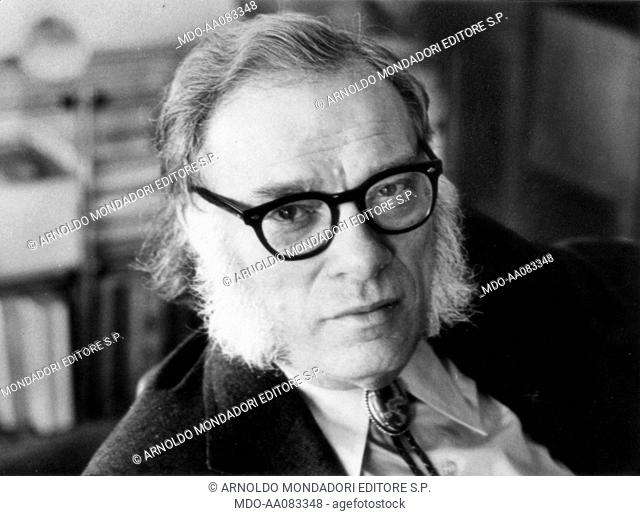Portrait of Isaac Asimov. Portrait of the american biochemist and writer Isaac Asimov. USA, 1970s