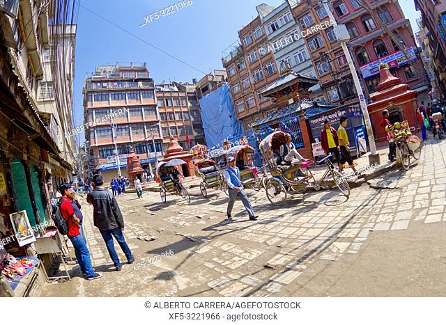 Street Scene, Thamel District, Kathmandu, Nepal, Asia