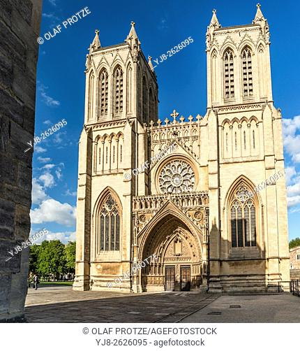 The Cathedral Church of the Holy and Undivided Trinity, also known as Bristol Cathedral, on College Green, Somerset, England, United Kingdom