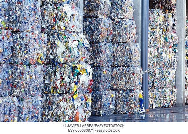 Recycling industry, material sorted for recycling