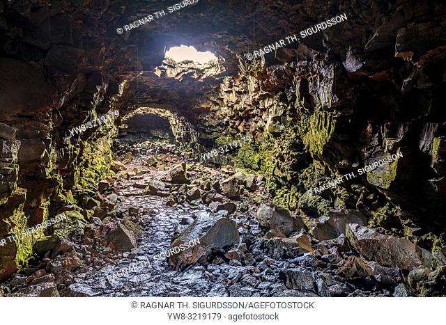 Raufarholshellir lava tube cave, Iceland