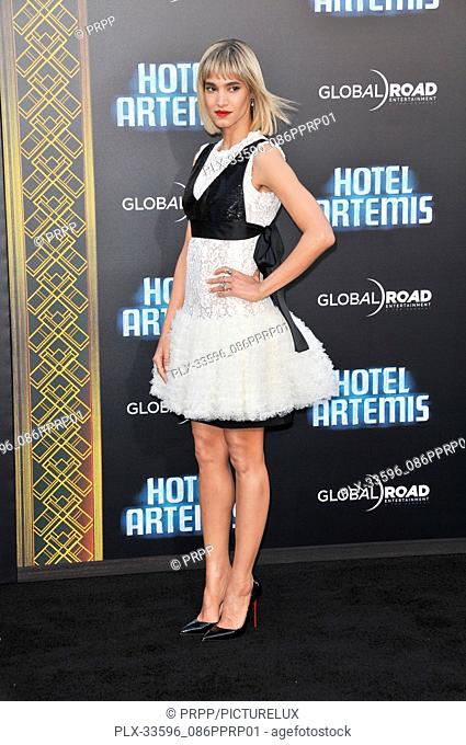 "Sofia Boutella at the """"Hotel Artemis"""" Los Angeles Premiere held at the Bruin Theater in Los Angeles, CA on Saturday, May 19, 2018"