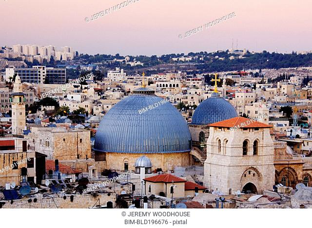 Church of the Holy Sepulchre amid cityscape