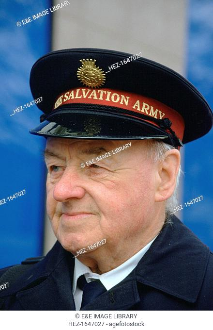 A Salvation Army member