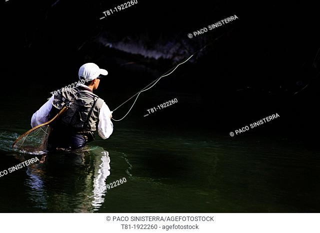 fisherman on the river Turia