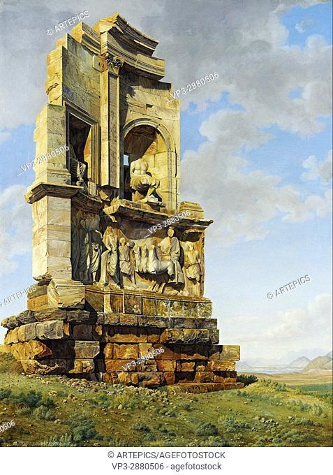 Giovanni Battista Lusieri - The Monument to Philopappos, Athens - National Galleries of Scotland