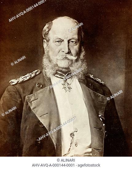 Portrait of Kaiser Wilhelm I in uniform, painted by G. Richter, shot 1900-1910 by Photographische Gesellschaft