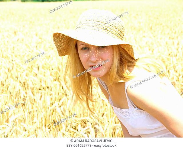 Girl in field