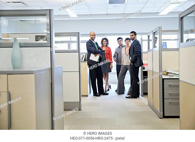 Portrait of confident business team in office