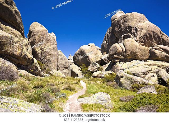 La Senda Maeso Pedriza Regional Park Cuenca Alta del Manzanares Madrid Spain
