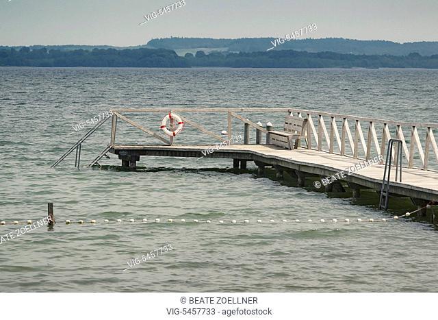 Badestelle am Grabensee, einm Abschnitt des Selenter Sees im Kreis Ploen - Selenter See, Schleswig-Holstein, Germany, 08/06/2014