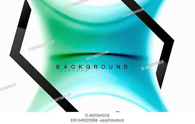 Swirl fluid flowing colors motion effect, holographic abstract background. Vector illustration