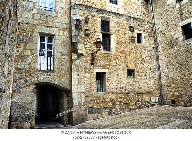 backyard of residential building, old town of Périgueux, World Heritage Sites of the Routes of Santiago de Compostela in France, Dordogne, Aquitaine, France