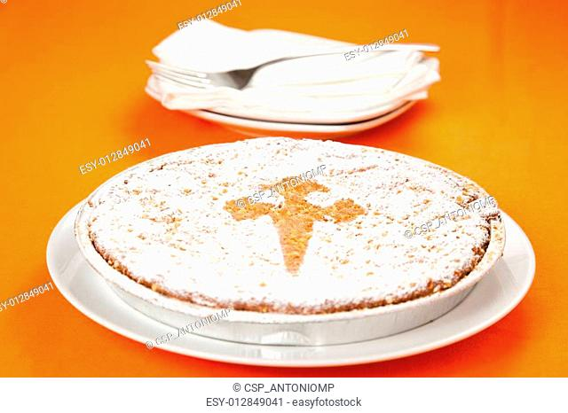 almond cake from santiago of compostela