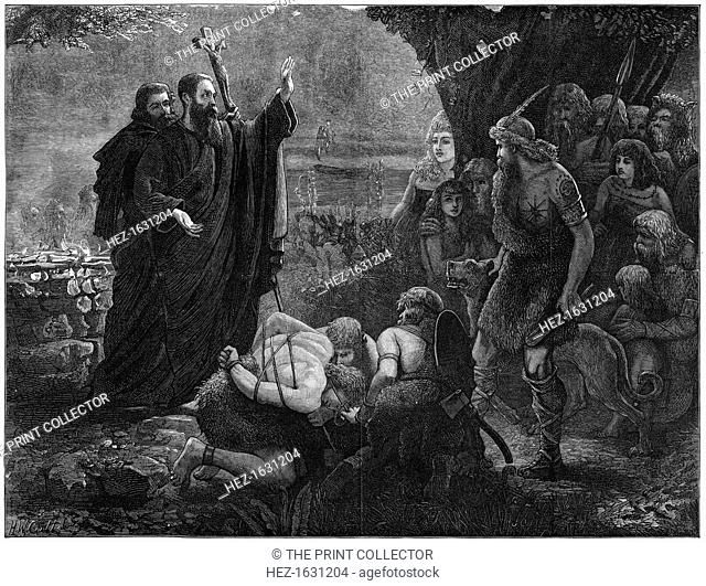 Christian missionaries interrupting a human sacrifice, 1878. From The Illustrated London News (1 June 1878)