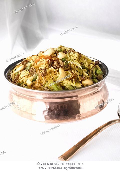 Indian food vegetable biryani, India, Asia