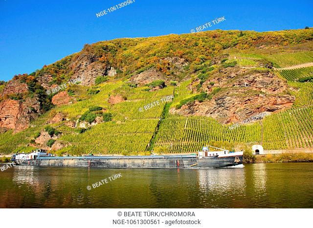 cargo ship on the Moselle