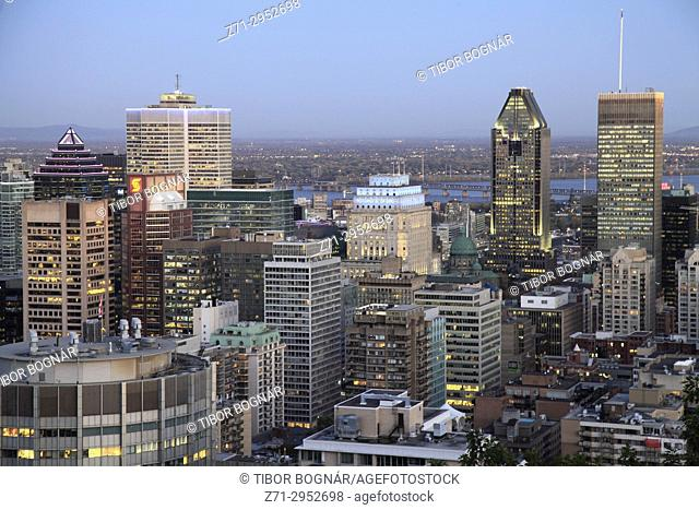 Canada, Quebec, Montreal, downtown, skyline,