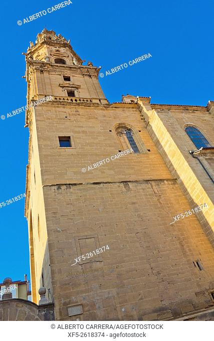 Parish Church of Santo Tomás Apostol, Baroque Tower, Plateresque Main Entrance, Gothic Style, S. XVI-S. XVIII, Spanish Property of Cultural Interest, Haro