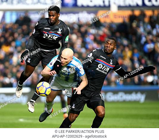 2018 EPL Premier League Football Huddersfield Town v Crystal Palace Mar 17th. 17th March 2018, The John Smiths Stadium, Huddersfield