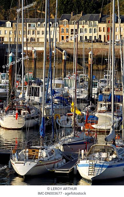 France, Normandy, Fecamp, the port