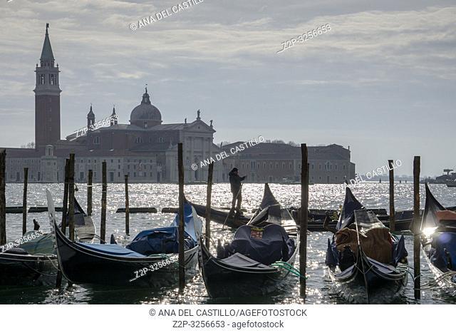 Venice, Veneto, Italy: San Giorgio Maggiore from St Marks square